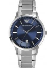 Emporio Armani AR2477 Para hombre reloj de plata azul clásica