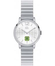Orla Kiely OK4003 Frankie damas reloj de pulsera de acero de plata
