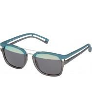 Police Mens neymar jr 1-s1948 nv8h gafas de sol de color turquesa transparente de color gris mate