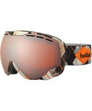 Bolle 21308 gris emperador y naranja Argyle - gafas de esquí de armas de cítricos