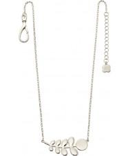 Orla Kiely N4015 Damas compinche collar del patrón madre de plata