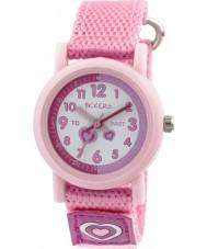 Tikkers TK0112 Chicas rosa reloj de correa de nylon