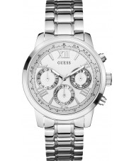 Guess W0330L3 Damas sunrise reloj de pulsera de acero de plata