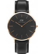 Daniel Wellington DW00100127 reloj de 40 mm Sheffield negro clásico