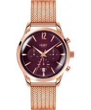 Henry London HL39-CM-0088 Damas Hampstead color de rosa púrpura reloj cronógrafo de oro