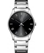 Calvin Klein K4D2114Y Reloj para hombre clásico negro de plata