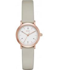 DKNY NY2514 Señoras del reloj de la correa de cuero gris Minetta