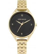 Karen Millen KM130BGM Chapado en oro de las señoras reloj pulsera