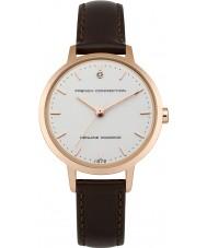 French Connection FC1279TRG reloj de la correa de cuero marrón de las señoras