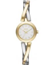 DKNY NY2171 Damas crosswalk reloj de plata de oro