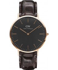 Daniel Wellington DW00100128 reloj de 40 mm york negro clásico