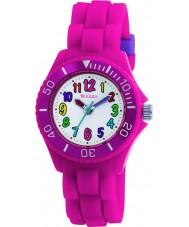 Tikkers TK0011 Niños reloj fluorescente de color rosa