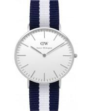 Daniel Wellington DW00100047 Damas clásico Glasgow reloj de plata de 36 mm