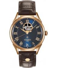 Roamer 550661-49-42-05 Reloj para hombre de la correa de cuero marrón suiza matic