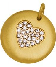 Edblad 31630106 Damas charmentity oro corazón colgante chapado en gran
