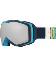 Cebe CBG83 tonos azul oscuro se levantó el pico - gafas de esquí espejo de plata con lente amarilla repuesto