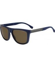 HUGO BOSS Mens jefe 0834-s hwq sp gafas de sol polarizadas azules