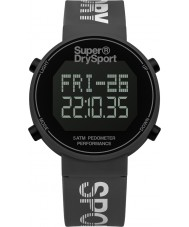 Superdry SYG203E digi correa de reloj para hombre podómetro de silicona gris