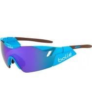 Bolle 6 ° sentido ag2r gafas azul-violeta brillante de color marrón