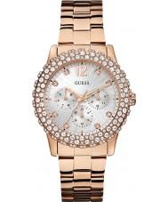 Guess W0335L3 Damas dazzler chapado en oro rosa reloj pulsera