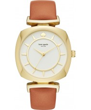 Kate Spade New York KSW1225 reloj de la correa de cuero marrón de las señoras caso tv luz
