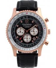 Krug-Baumen 600703DS reloj de diamantes viajero aéreo para hombre