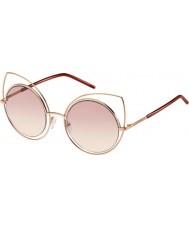 Marc Jacobs Damas marc 10-s TZF 05 se levantó las gafas de sol de oro de color burdeos
