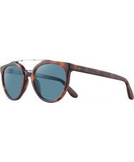 Revo Rbv1006 bono de firma zumbido mate miel concha - gafas de sol polarizadas azules
