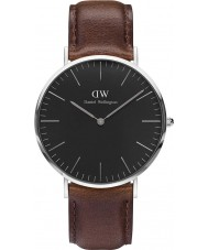 Daniel Wellington DW00100131 Reloj clásico negro 40mm Bristol