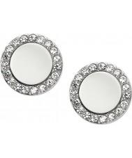 Fossil JF01791040 Señoras clásicas de acero reflejado aretes de plata