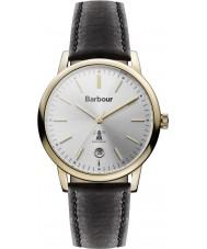 Barbour BB041SLBK Seaton damas reloj correa de cuero negro