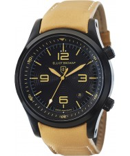 Elliot Brown 202-008-L04 Mens CANFORD reloj de la correa de cuero marrón