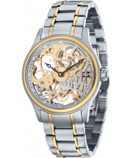 Thomas Earnshaw ES-8049-22 reloj esquelético mecánico de acero de dos tonos para hombre Bauer