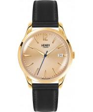 Henry London HL39-S-0006 reloj negro de Westminster mediados champán