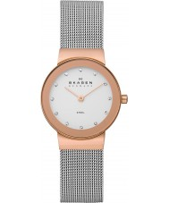 Skagen 358SRSC Damas klassik reloj color de rosa malla de acero de oro