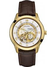 Bulova 97A121 Para hombre reloj cronógrafo automático de color marrón