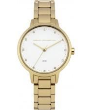French Connection FC1281GM Chapado en oro de las señoras reloj pulsera