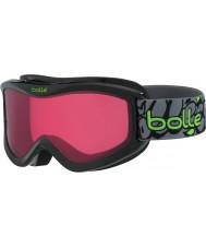 Bolle 21511 Voltios negro de graffiti - gafas de esquí vermillon - 6 años más