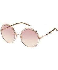 Marc Jacobs Damas marc 11-s TXA 05 gafas de sol marrones de oro