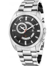 Klaus Kobec KK-20009-11 Mens porter reloj de múltiples funciones de plata
