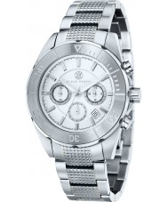 Klaus Kobec KK-20005-05 Mens Cronos tono plateado reloj de acero
