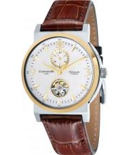 Thomas Earnshaw ES-8012-07 Para hombre de la providencia redonda reloj de la correa de piel de cocodrilo marrón