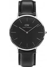 Daniel Wellington DW00100133 reloj de 40 mm Sheffield negro clásico