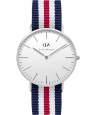 Daniel Wellington DW00100051 Damas clásico Canterbury reloj de plata de 36 mm