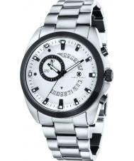 Klaus Kobec KK-20009-22 Mens porter reloj de múltiples funciones de plata
