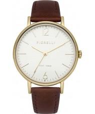 Fiorelli FO005TG Damas chapado en oro reloj de la correa de cuero marrón