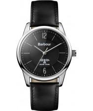Barbour BB049SLBK reloj de la correa de cuero negro Mortimer