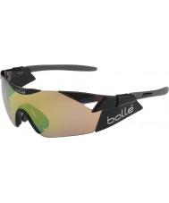 Bolle brillantes 6th Sense s modulador negro gafas de sol de color marrón esmeralda
