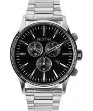 Nixon A386-000 Mens centinela Reloj Chrono negro
