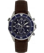 Rotary AGS00070-C-05 Para hombre reloj cronógrafo AQUASPEED azul marrón